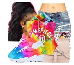 """""""Taste The Rainbow ! 🌈"""" by robiinn-babyy-gurl ❤ liked on Polyvore featuring Dimepiece and NIKE"""