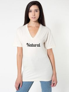 American Apparel - Unisex Organic Fine Jersey Short Sleeve V-Neck Jersey Shorts, White Tees, American Apparel, V Neck T Shirt, Perfect Fit, Women Wear, T Shirts For Women, Unisex, My Style
