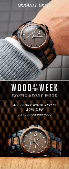 """Wood Of The Week - This week featuring our exotic Ebony Wood. This week only take 20% off with code """"OGEbonyWood"""""""
