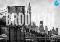 Brooklyn New York Wall Mural #brooklyn #mural #new-york #wallpaper