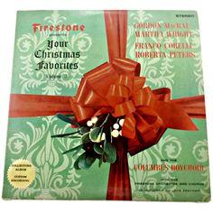 vintage firestone your christmas favorites volume 3 vinyl album approximate measurements 12 inches circa
