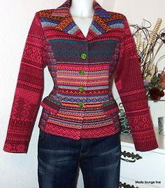 Ivko Cardigan Blazer Wool Jacket L 40 Cherry Pie Jacquard 32619 Red | eBay