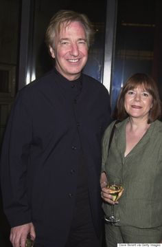 Alan Rickman And Wife Rima Horton Had A Love Story - He Looks Completely In love Alan Rickman Always, Alan Rickman Movies, Harry Potter Actors, Alan Rickman Severus Snape, Play S, Falling In Love With Him, Half Blood, Celebrity Couples, Love Story