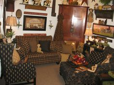 Farmhouse  Country Primitive Upholstered Furniture @ The Red Brick Cottage, Fort Knox KY