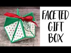 Faceted Gift Box with Video Tutorial - The Paper Pixie Christmas Paper Crafts, Christmas Origami, Christmas Gift Box, Christmas Gift Wrapping, Christmas Cards, Origami Gift Box, Origami Boxes, Origami Bookmark, Origami Paper