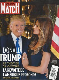 Paris Match magazine Donald and Melania Trump Dan Brown Francoise Hardy Mosul