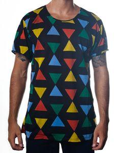 Nemis Clothing Triangle Tee Black www.nemisclothing.com