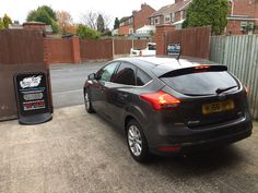 2016 Ford Focus in this morning for 5% Carbon limo tints to the rear.