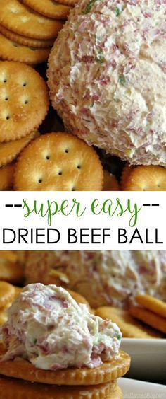Dried Beef Ball Appetizer super easy finger food recipe made with cream cheese delicious!