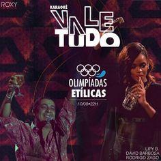 #VEJA Roxy: Karaokê Vale Tudo Olimpíadas Etílicas #agenda @paroutudo via ParouTudo http://ift.tt/2aBsGxt #Raynniere #Makepeace