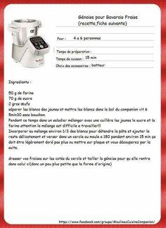 Génoise pour bavarois fraise I Companion, Prep & Cook, Celine Dion, Biscuits, Pain, Robots, Desserts, Recipes, Cooker Recipes