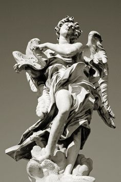 Angel with symbol of the Passion by Bernini (1688), Ponte Sant'Angelo