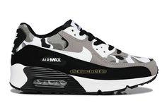 c7b5116448e491 Officiel Nike Air Max 90 SJX Chaussures Nike Sportswear Pas Cher Pour Femme  Noir - Blanc - Gris