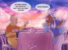 Allura and Aang by Autumn-Sacura.deviantart.com on @DeviantArt