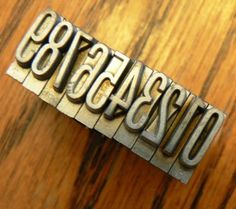vintage letterpress  PRINTERS TYPEFACE NUMERIC 0 to 9 by Inktiques, $16.00