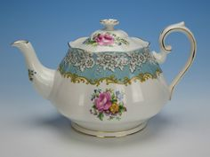 Royal Albert China Blue Enchantment Pattern Teapot