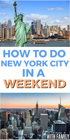 Things you can do in New York City if you only have a weekend #TravelDestinationsUsaNortheast