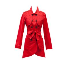 Could there be a more perfect trench coat? We think not! The Convertible Trench Coat has removable sleeves, perfect for when the weather warms up. And this marvelous Poppy Red is to die for! #CAbi #Spring13 #SneakPeek