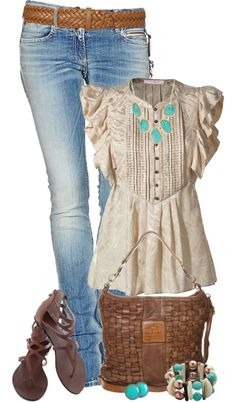 """Untitled #1604"" by johnna-cameron on Polyvore.......only for autumn I would pair this cute combo with my boots and a tweed jacket. :)"