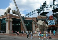 Comerica Park – home of the Detroit Tigers.