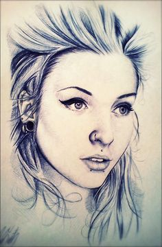 girl portrait pencil