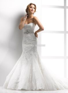 Find More Wedding Dresses Information about Strapless Sweetheart Lace Up Back Elegant Wedding Dresses Mermaid With Bling Rhinestone Sashes 2016,High Quality mermaid sticker,China mermaid sweetheart prom dress Suppliers, Cheap mermaid style wedding dresses 2010 from Connie Noivas Wedding Dresses Co,Ltd on Aliexpress.com