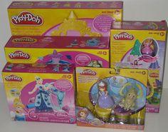Large Disney Princess Play-Doh Bundle Lot of 5 Sets NEW Design-a-Dress Cinderella's Carriage