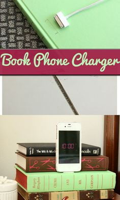 Turn a Book Into a Phone Charger. So cute and great for dorms!