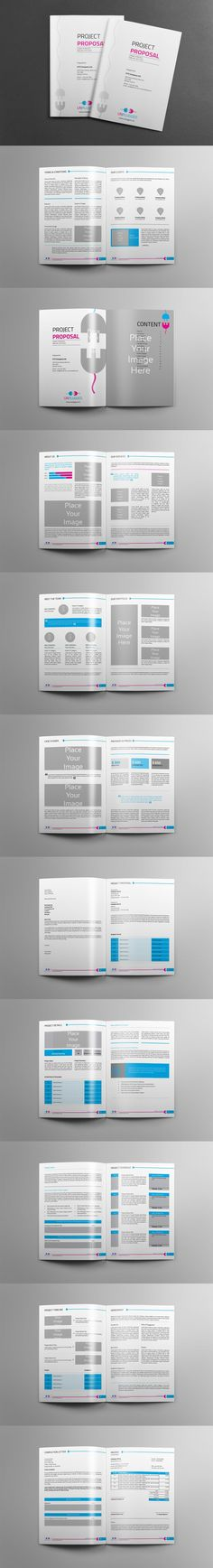 Web-design Proposal Template InDesign INDD A4 and US Letter Size - proposals templates