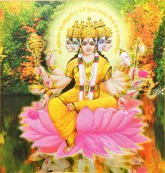 Devī Gāyatrī - गायत्री देवी Calendar Art