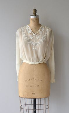 Avalon silk beaded blouse silk blouse by DearGolden. Lucy Kania a923d1b93a