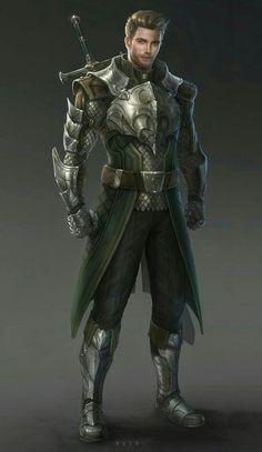 Human Fighter Warrior - Pathfinder PFRPG DND D&D d20 fantasy