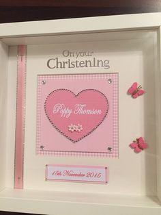 Handmade christening frame                              …