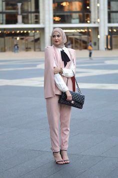 Hijab + Pink Cape Set (With Love Leena)