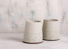 Ceramic white tumblers Modern Espresso Cups Coffee by FreeFolding