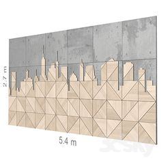models: Other decorative objects - Decorative wall Office Interior Design, Interior Walls, Wall Panel Design, 3 Panel Wall Art, 3d Wall Panels, Wall Cladding, Creative Walls, Wall Patterns, Grafik Design