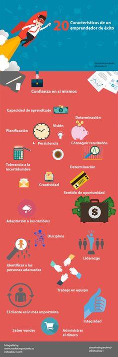 Características que tú también puedes desarrollar si quieres emprender y tener éxito. #startup #emprender #emprendedores #emprendimiento