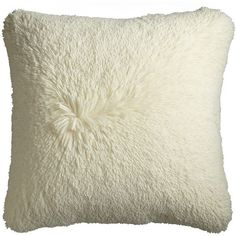 Pier One Oversized Fuzzy Pillow ($50) ❤ liked on Polyvore