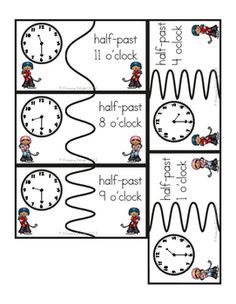 {FREE} Time Puzzles with Words: O'clock, Half-Past