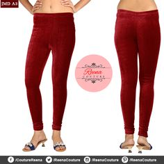 Stretchable VELVET churidar leggings available in different colours and all sizes. A perfect compliment to your dresses! PLACE YOUR ORDER! Call OR WhatsApp *We provide excellent customized stitching and designing for women! Churidar, Compliments, Stitching, Pajama Pants, Pajamas, Velvet, Sweatpants, Leggings, Colours