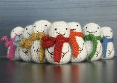 Mini Crochet Snowman with Free Pattern