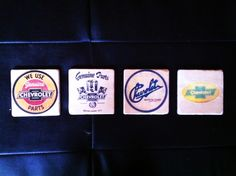 For the love of Chevy beverage coasters by 5 Creations Handmade Decor