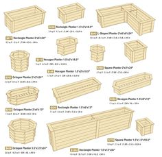 Square/Rectangle Planters Hexagon Planters Octagon Planters L-Shaped We have collected the most amazing DIY wooden planter box ideas to give you lots of inspiration to spruce up your curb appeal this summer. Outdoor Planters - Beautiful Planter Boxes for Diy Wooden Planters, Outdoor Planters, Wooden Diy, Deck Railing Planters, Wooden Garden, Planter Box Plans, Garden Planter Boxes, Pallet Planter Box, Planter Ideas