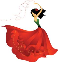 Illustration about Spanish dancer, with red skirt, dancing flamenco. Illustration of black, dancer, floral - 4685967 Dancing Clipart, Dance Vector, Cartoon Pics, Cartoon Drawings, Spanish Dancer, Spanish Class, Teaching Spanish, Dancing Drawings, Female Dancers