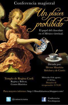 Cartel de un evento del chocolate en Mexico.