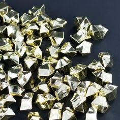 Metallic Gold Acrylic Crushed Ice Decorative Gems - 2 Cups