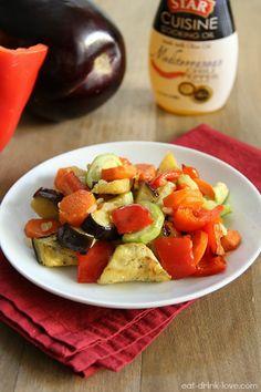 Mediterranean Roasted Vegetables – Eat. Drink. Love. using STAR Mediterranean Cuisine Cooking Oil