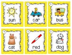 FREE: This product includes 12 CVC word cards to hang around your room with a corresponding recording sheet. Have fun! Kindergarten Freebies, Kindergarten Centers, Kindergarten Literacy, Literacy Activities, Summer Activities, Literacy Stations, Literacy Centers, Work On Writing, First Grade Reading