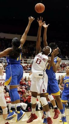 Chiney Ogwumike had 21 points and 15 rebounds in helping No. 4 Stanford hold off UCLA's upset bid, beating the Bruins 72-55