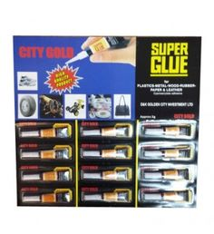 Buy #wholesale #supplies of City Gold Super Glue at just £0.52 for a pack of 12 super glues. #superglue #uk  Order now: http://goo.gl/aKmKdE